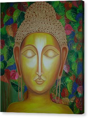 Lord Gautam Buddha Canvas Print by Riya Rathore