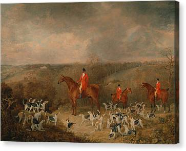 Lord Glamis And His Staghounds Canvas Print by Dean Wolstenholme