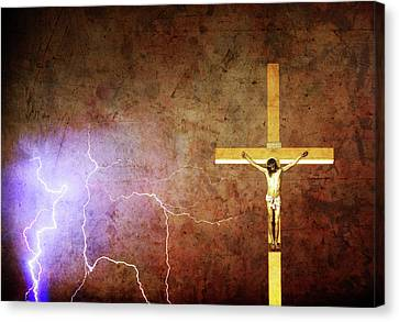 Lord Have Mercy - Crucifixion Of Jesus -2011 Canvas Print by James BO  Insogna