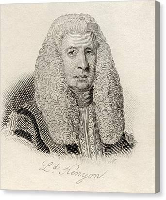 Lord Lloyd Kenyon, 1st Baron Kenyon Canvas Print by Vintage Design Pics