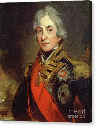 Lord Admiral Nelson Canvas Print - Lord Nelson by John Hoppner