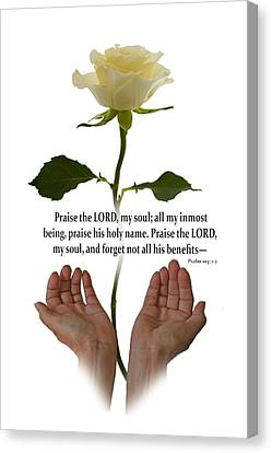 Lord, O My Soul Canvas Print by Ann Lauwers