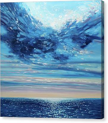 Lord Of Sea And Sky - A Large Original Seascape Painting Canvas Print by Gill Bustamante