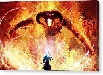 Lord Of The Rings Balrog Canvas Print by Frank Paul