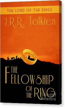 Lord Of The Rings Fellowship Of The Ring Book Cover Movie Poster Canvas Print by Nishanth Gopinathan