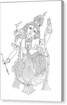 Lord Rama  Canvas Print by Chitra Pandalai