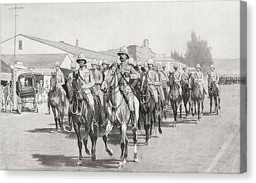 Lord Roberts, Lord Kitchener And Staff Canvas Print by Vintage Design Pics