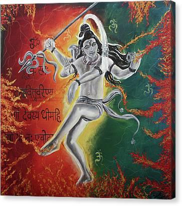 Lord Shiva-the Cosmic Dance Canvas Print by Tamanna  Sagar