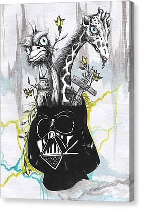 Ostrich Fan Canvas Print - Lord Vader's Happy Place by Tai Taeoalii