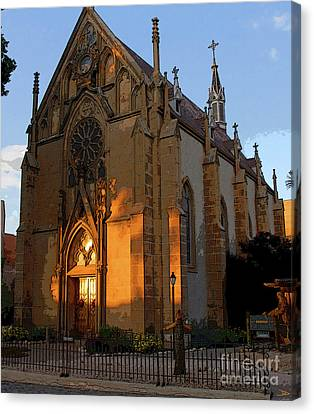 Loretto Chapel 1878 Canvas Print by David Lee Thompson