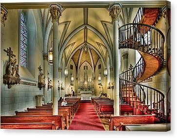 Canvas Print featuring the photograph Loretto Chapel Altar by Anna Rumiantseva
