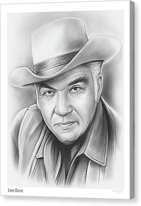 Lorne Greene Canvas Print by Greg Joens