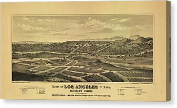 Los Angeles 1877 Canvas Print by Mountain Dreams