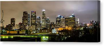 Canvas Print featuring the photograph Los Angeles At Night by April Reppucci