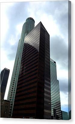 Citi Canvas Print - Los Angeles Bank Buildings by Nancy Merkle
