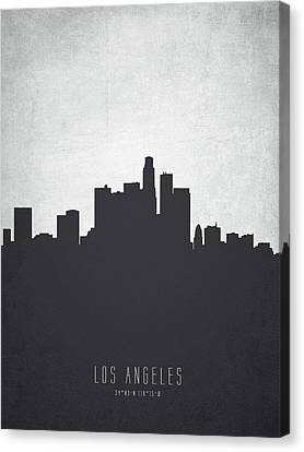 Los Angeles California Cityscape 19 Canvas Print by Aged Pixel