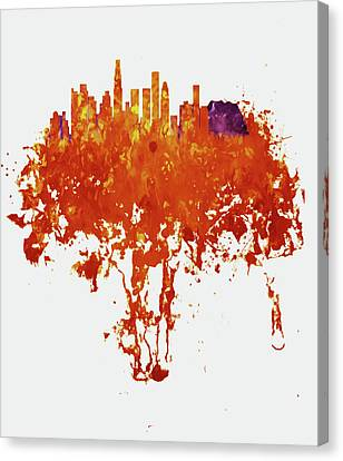 Los Angeles California Cityscape 1b Canvas Print by Brian Reaves