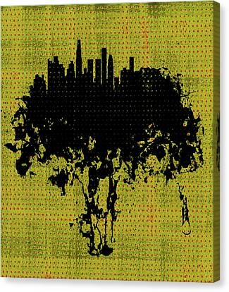 Los Angeles California Cityscape 1c Canvas Print by Brian Reaves