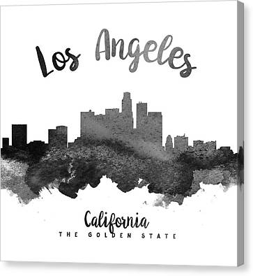Los Angeles California Skyline 18 Canvas Print by Aged Pixel