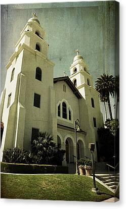 Beverly Hills Church Canvas Print by Scott Pellegrin