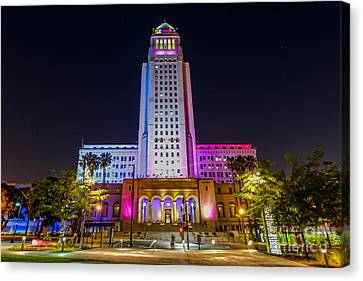 Concert Images Canvas Print - Los Angeles City Hall by Art K