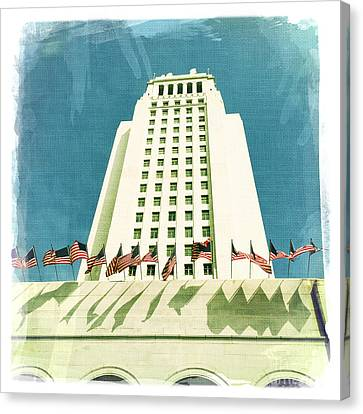 Los Angeles City Hall Canvas Print by Nina Prommer