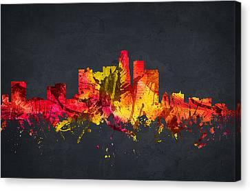Los Angeles Cityscape 07 Canvas Print by Aged Pixel