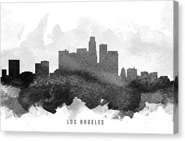 Los Angeles Cityscape 11 Canvas Print by Aged Pixel