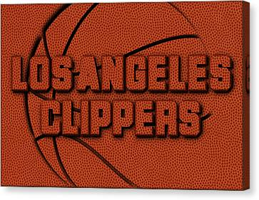 Los Angeles Clippers Canvas Print - Los Angeles Clippers Leather Art by Joe Hamilton