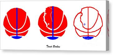 Canvas Print featuring the digital art Los Angeles Clippers Logo Redesign Contest by Tamir Barkan