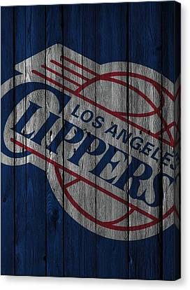 Los Angeles Clippers Canvas Print - Los Angeles Clippers Wood Fence by Joe Hamilton