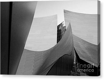 Los Angeles Disney Concert Hall 30 Canvas Print by Micah May
