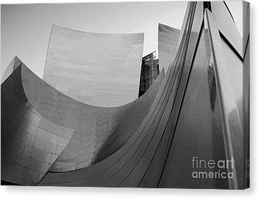 Los Angeles Disney Concert Hall 32 Canvas Print by Micah May