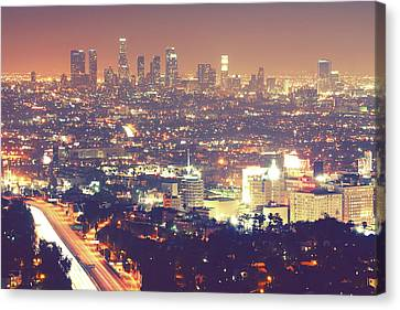 Long Street Canvas Print - Los Angeles by Dj Murdok Photos