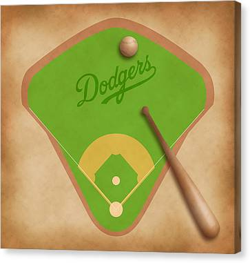 Los Angeles Dodgers Field Canvas Print by Carl Scallop