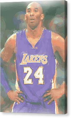 Los Angeles Lakers Kobe Bryant 2 Canvas Print by Joe Hamilton