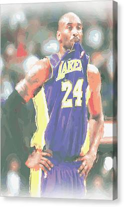 Los Angeles Lakers Kobe Bryant 3 Canvas Print by Joe Hamilton