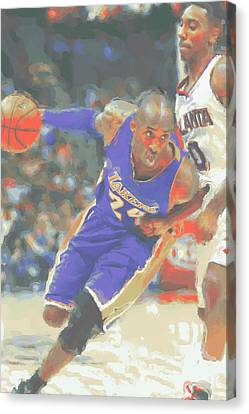 Los Angeles Lakers Kobe Bryant Canvas Print by Joe Hamilton