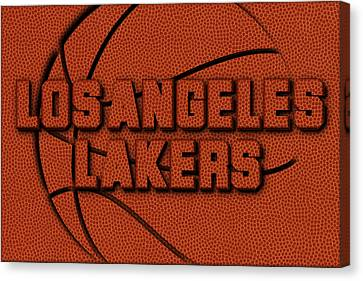 Los Angeles Lakers Leather Art Canvas Print