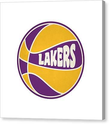 Los Angeles Lakers Retro Shirt Canvas Print
