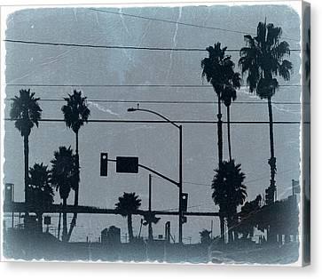 Los Angeles Canvas Print by Naxart Studio
