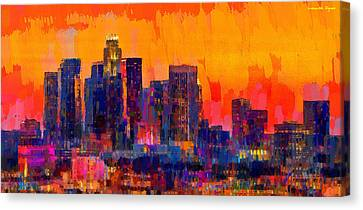 Los Angeles Skyline 113 - Da Canvas Print
