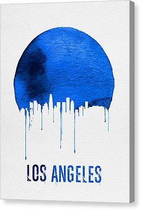 Los Angeles Skyline Blue Canvas Print by Naxart Studio