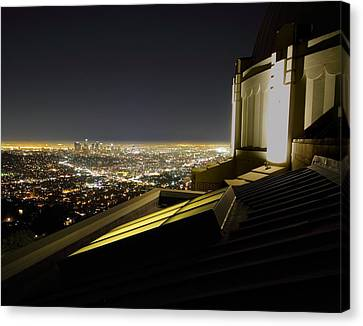 Los Angeles Skyline From The Griffith Observatory Canvas Print by Jetson Nguyen