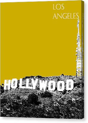 Los Angeles Skyline Hollywood - Gold Canvas Print by DB Artist