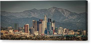 Los Angeles Skyline Canvas Print by Neil Kremer