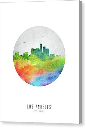 Los Angeles Skyline Uscala20 Canvas Print by Aged Pixel