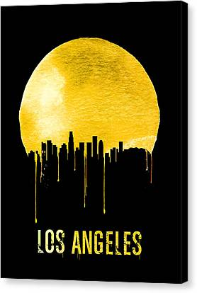 Los Angeles Skyline Yellow Canvas Print by Naxart Studio