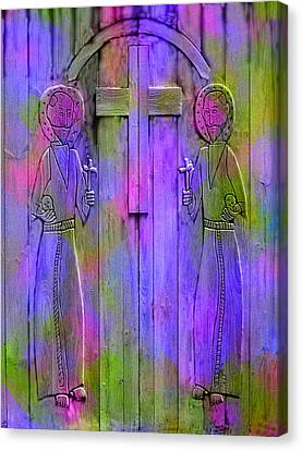 Los Santos Cuates - The Twin Saints Canvas Print by Kurt Van Wagner