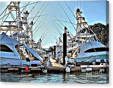 Jaco Canvas Print - Los Suenos Dock by Carey Chen